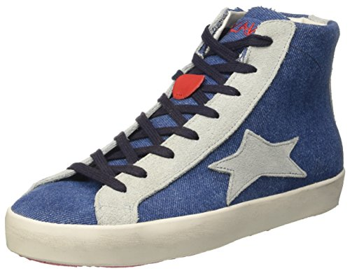ISHIKAWA High, Baskets Hautes Mixte Adulte Blu (Jeans)