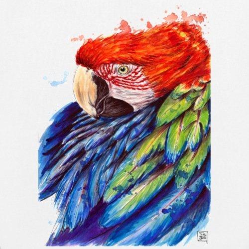 Spreadshirt Papagei Bio-Stoffbeutel Weiß