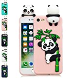 LA-Otter Coque iPhone 6S Plus 6 Plus Rose Panda Ultra Fine Slim Mince Silicone TPU...