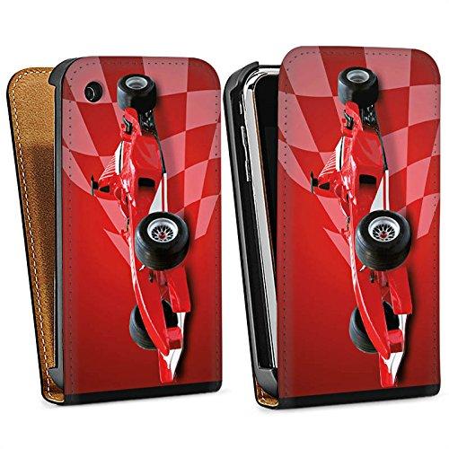 Apple iPhone 5s Housse Étui Protection Coque Formule 1 F1 Voiture de course Sac Downflip noir
