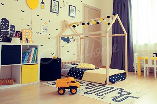 Sweet Home of Wood - Cama Infantil Montessori, Natural, 190x90cm