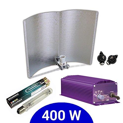 Kit d'éclairage électronique Dimmable Lumatek 400 W + Agrolite SHP + réflecteur Adjust-a-Wings