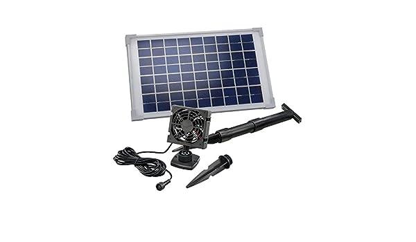20 W ventola solare solare solare Ventilatore Sistema di ventilazione serra Gartenhaus!