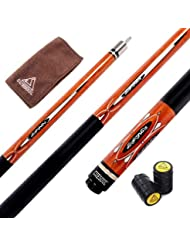 CUESOUL 57 Inch 21 Oz Pool Cue with 13mm Cue Tips with Cleaning Towel & Joint Protector (CSPC032)