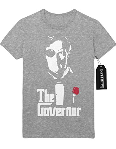 "T-Shirt The Walking Dead ""THE GOVENOR"" The Godfather Mashup C142276 Grau"