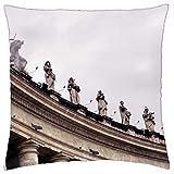 Del Vaticano en Roma–Funda de almohada manta (16'x 16)