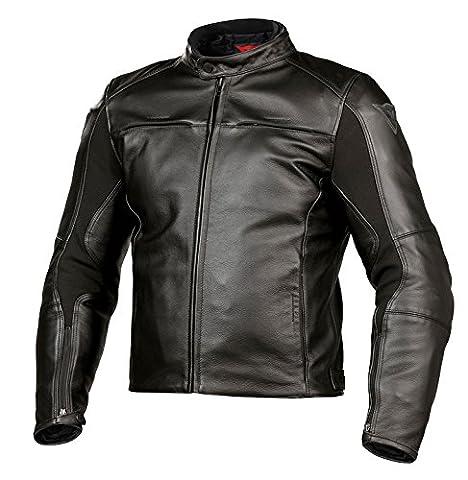 Dainese Razon Leder Motorradjacke, Schwarz, Größe 48 (Charakter Jacken)