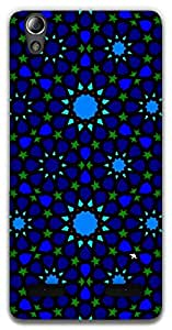 The Racoon Grip Symmetrical stars hard plastic printed back case / cover for Lenovo A6000