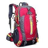 Wanderrucksäcke, Wandern Rucksack, Camping Rucksack / Reisen Rucksack / Trekking Rucksäcke / Casual Daypack Tasche für Outdoor Sport Wandern Trekking Camping Klettern Berg (rose red, 40L)