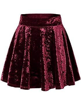 [Patrocinado]Urban GoCo Mini Falda Elástica Patinadora de Terciopelo de Retro