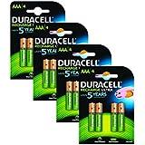 Duracell BUN0043B batería recargable - Batería/Pila recargable (Níquel metal hidruro, Universal, AAA, 16 piezas)