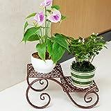 CKH Schmiedeeisen Blumenregal Balkon Europäischen Multi-Layer-Boden Typ Indoor Fleischigen Blumenständer Green Pflanzer Rack 2