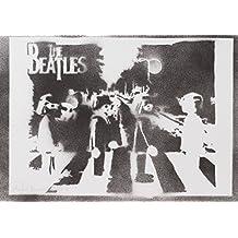 Playmobil Clicks Beatles Hecho A Mano - Handmade Street Art Poster