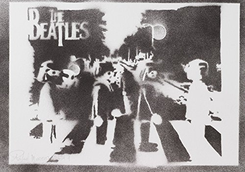 The Beatles Playmobil Klickys Poster Plakat Handmade Graffiti Street Art - Artwork