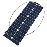 sansido 30W 12V Jet-Line Sunpower semi flexible panel solar flexible de adoquines Cargador Solar