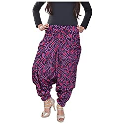 Soundarya Womens Regular Fit Harem Pants (AP6, Maroon)