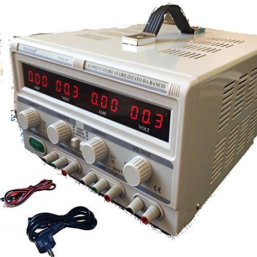 DOBO® Alimentatore Stabilizzato da banco Duale Trasformatore lineare corrente professionale regolabile fino a 30V-60V e 5A-10A / Parallelo o Seriale