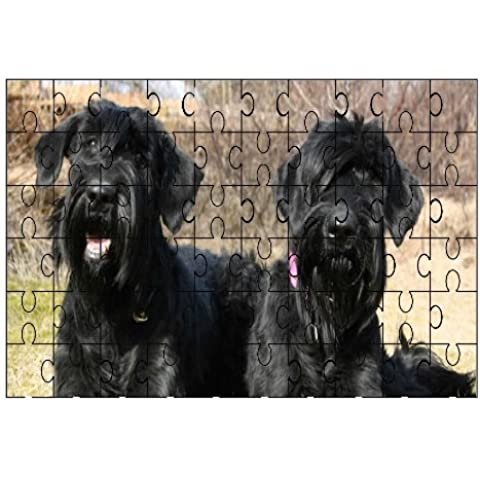 Schnauzer Cane Cani (Nero) 60piece Puzzle 215
