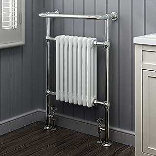 iBathUK | 8 Column Traditional Designer Heated Towel Rail Bathroom Radiator RT02