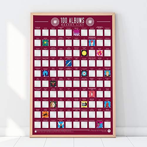 Unbekannt Gift Republic 100Alben-Scratch Off Eimer Liste Poster, rot (Film-liste)
