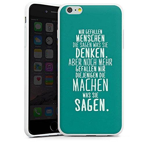 Apple iPhone SE Silikon Hülle Case Schutzhülle Sprüche Statement Spruch Silikon Case weiß