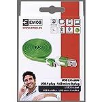 Emos-cavo-USB-20-Am-Micro-BM-1-m-verde-LM05-1021