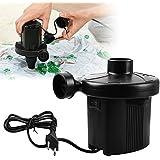 Elektrische Luftpumpe , Ubegood Elektropumpe 150W Elektrisch Pumpe Bootpumpe schnelles Auf- und Abpumpen für Sitzsack, Schlauchboote, Gästebetten, Luftmatratzen und 220-240V