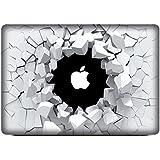 """NetsPower® De moda Colorido Vinilo Frente Calcomanía Pegatina Adhesivo Sticker Power-up Art para Apple MacBook Pro 13"""" - Agujero Roto"""