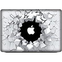 """NetsPower® De moda Colorido Vinilo Frente Calcomanía Pegatina Adhesivo Sticker Power-up Art para Apple MacBook Air 13"""" - Agujero Roto"""