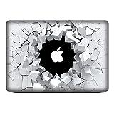 NetsPower à la mode Colorful Vinyle Décalque Autocollant Avant Sticker Power-up Art Noir pour Apple MacBook Pro 13' - Trou Brisé