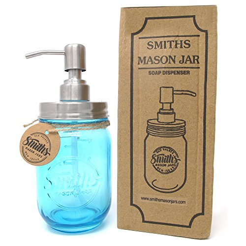 Smith's Mason Jar Dispenser di sapone e lozioni antiruggine, perfetto per la cucina o il bagno, regalo perfetto – Cobalt Blue comprare on line