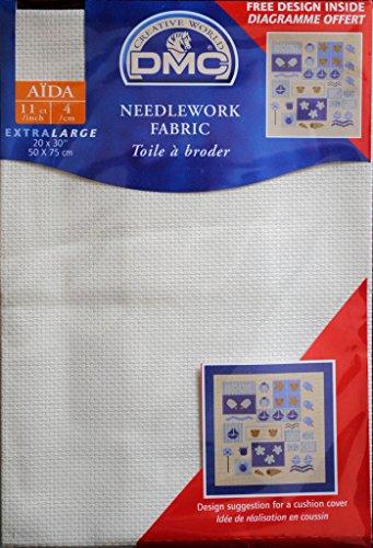 DMC Aida 4/cm - 100% Baumwolle - 50 cm x 75 cm - Naturfarben -