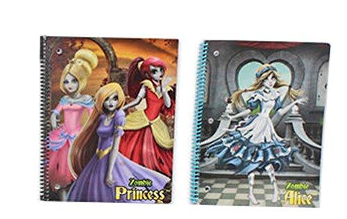 Lizenzierte Charakter Spirale Notebook 3PC Set Zombie Princess