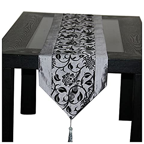 TOOGOO(R) Fashion Accessories Flower Tablecloth Table Runner Tables Cloth Wedding