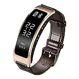 PDFGO Herren Damen Smart Armband SmartWatch Herzfrequenz Smart Blutdruck Blut-Sauerstoff-Monitoring Erinnern Gesundheit Tracking Für Ios Android,Gold