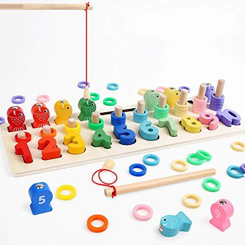 LBLA Niños Puzzle Bloques Madera Montessori