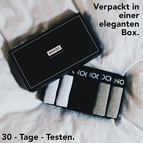 Snocks ® Herren Boxershorts (6er Pack) Ideale Passform Durch 95% Baumwolle (Ohne Kratzenden Zettel)