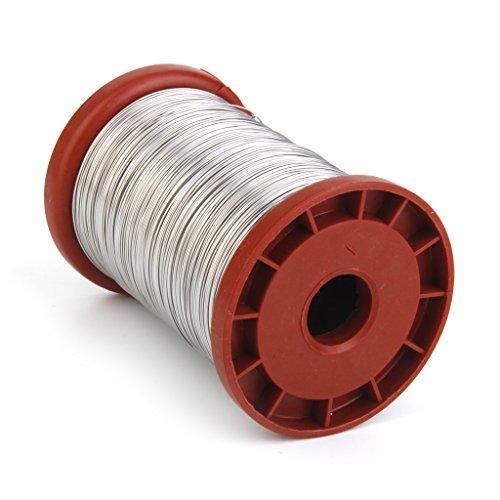 Sharplace Fil d'acier Inoxydable de Rétractable Corde de Fil d'acier de Sécurité pour Cordon Enroulé à Emerillon Mousqueton 0.5mm 500g