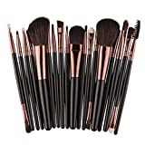 Makeup Kosmetik Pinsel Xinan 18 Stk Pinsel Set Tools WC Kit Wolle Pinsel Set Kit Bürste Kontur (❤️, Schwarz)