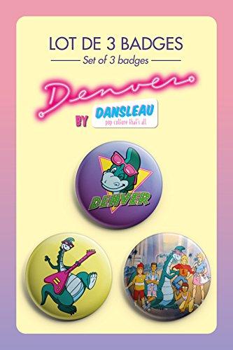 Lot de 3 badges Denver le Dernier Dinosaure