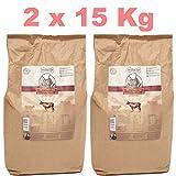 Gesundes Premium Hundefutter mit Hohem Fleischanteil für Mehr Vitalität I Hundekochprofi Wiesenrind kaltgepresstes Trockenfutter für Hunde I Tierbedarf Hundenahrung Alleinfutter Hundebedarf (30 Kg)
