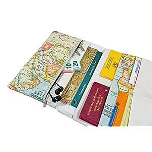 Reiseetui Reisepasshülle Reiseorganizer Weltkarte