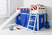 Cabin Bed Shorty 2'6 with Slide Junior Bed Ontario in choice of colours Noa & Nani