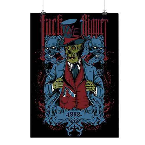 Jack Mörder Tod Zombie Tot Schädel Mattes/Glänzende Plakat A3 (42cm x 30cm) | (Mörder Kostüme Und Opfer)