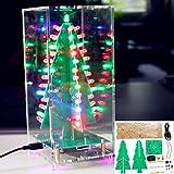 Bluelover Arbre de Noël avec le kit coloré d'instantané de RVB LED de fonction de MP3 avec la couverture transparente