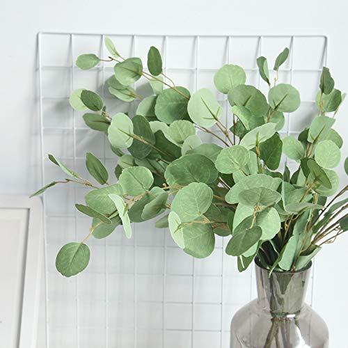 AmyGline Künstliche Gefälschte Blume Eukalyptus Blätter Geld Blatt Ginkgo Blume Home Office Garten Blume Hochzeit Decor