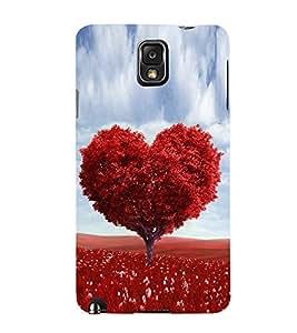 PrintVisa Heart Shape Tree 3D Hard Polycarbonate Designer Back Case Cover for Samsung Galaxy Note 3 :: Samsung Galaxy Note III :: Samsung Galaxy Note 3 N9002 :: Samsung Galaxy Note N9000 N9005