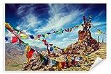 Postereck - Poster 2595 - Gebetsfahnen, Buddhismus Himalaya