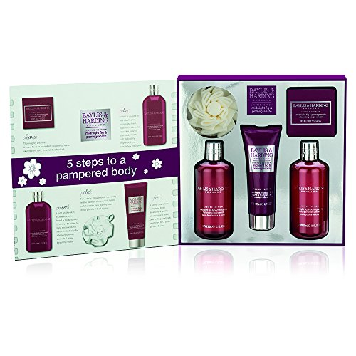 Baylis & Harding Midnight Fig and Pomegranate Book Gift Set – 5 Piece