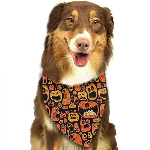 Osmykqe Hund Bandanas Halloween Kürbis einstellbar Hundehalsband Katze Schal Welpen Bandans Pet Zubehör